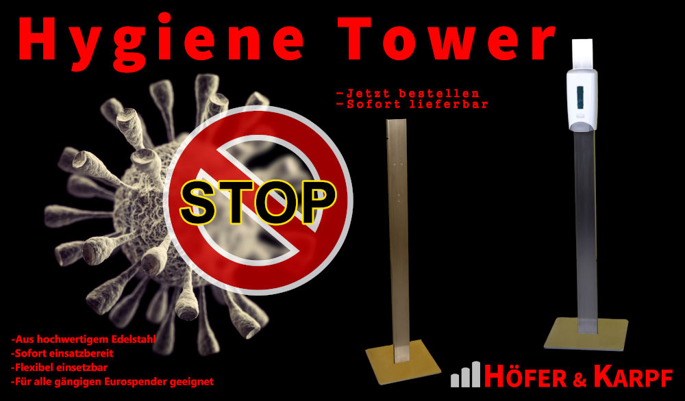 Neues COVID19 Produkt - Hygiene Tower